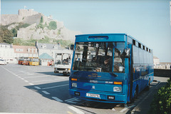 Tantivy Blue 8, Pioneer 5 and Jerseybus 8 at Gorey - 4 Sep 1999