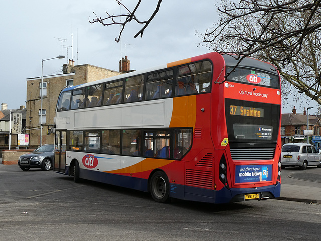 Stagecoach East (Cambus) 10879 (YX67 VDR) in Peterborough - 18 Feb 2019 (P1000391)