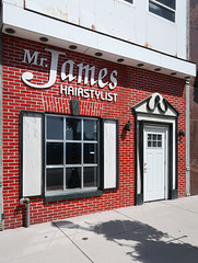 Mister James is a storefront stylist.
