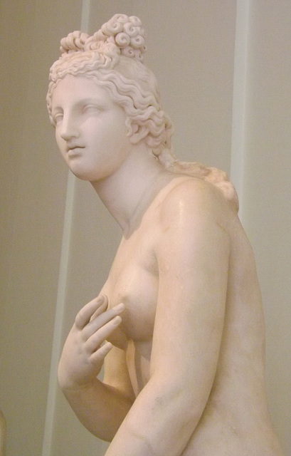 Detail of a Statue of Aphrodite of the Dresden-Capitoline Type in the Naples Archaeological Museum, July 2012