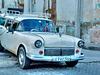 Vintage old car in the street of Santa Clara, Cuba