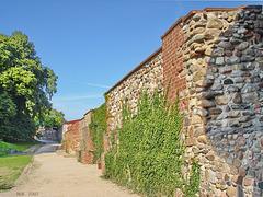 Bad Belzig,  Nordmauer der Burg Eisenhardt