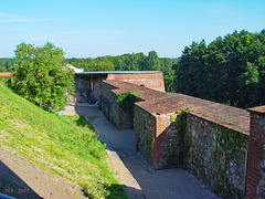 Bad Belzig,  Ostmauer + NO-Rondell der Burg Eisenhardt