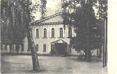 Gimnazio en Bialystok, kie lernis d-ro Zamenhof (sur malnova bildkarto)