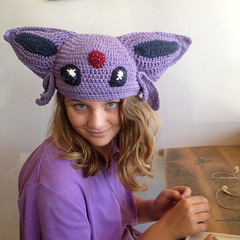 Crocheted Espeon Hat