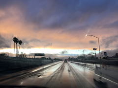 Edge of Rain at Sunset