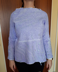 felt blouse: cotton gauze and merino