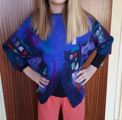 felt poncho with sleeves