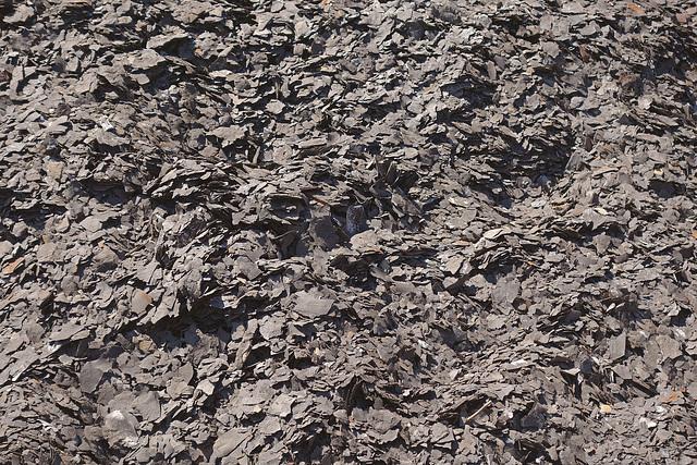Waste gravel, after exploration
