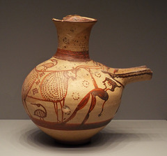 Mycenaean Jug with a Man and a Bull in the Getty Villa, June 2016