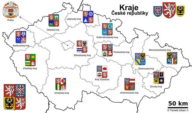 14 regionoj de Ĉeĥio - 14 Regions of Czech Republic