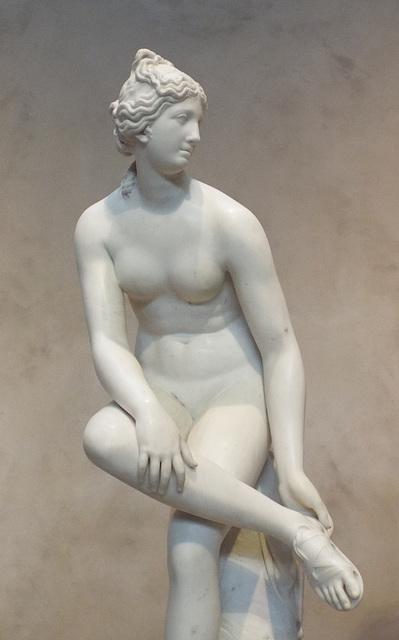 Detail of Venus by Joseph Nollekens in the Getty Center, June 2016