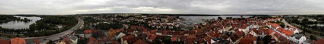 360°-Panorama von Waren an der Müritz