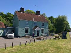 The pub has been painted a new colour