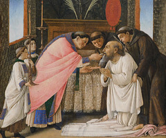 Detail of The Last Communion of St Jerome by Botticelli in the Metropolitan Museum of Art, September 2021