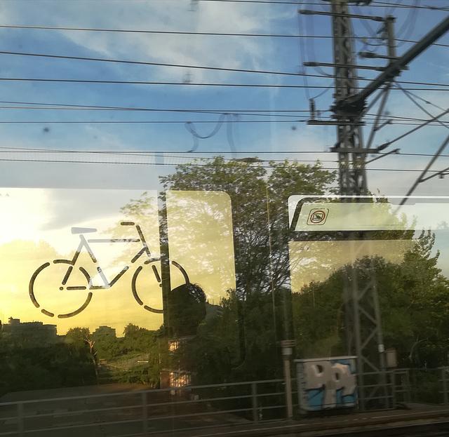 bike on a train