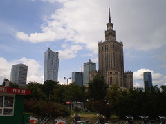 Skyscrapers and Palace of Culture and Science.