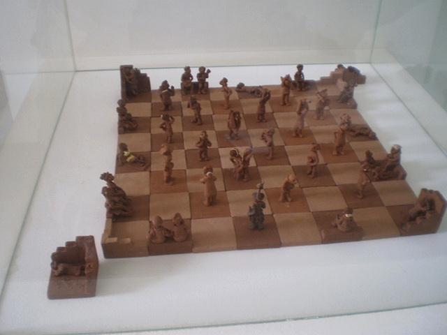 Chess board.