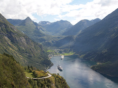 Geiranger Fjord and Dalsnibba
