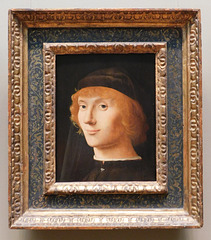 Portrait of a Young Man by Antonello da Messina in the Metropolitan Museum of Art, September 2021