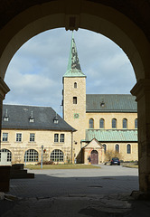 Einfahrt zum Klosterhof Huysburg