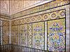 Kairouan : il mosaico che riveste il porticato della moskea del barbiere