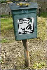 mossy dog bin