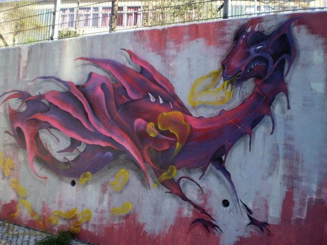 Dragon painting.