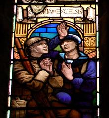 Detail of War Memorial Window by James Eadie Reid, All Saints Church, Leek Road, Hanley, Stoke on Trent, Staffordshire