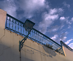 Fence and street light