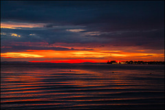 Blick auf Lindau nach Sonnenuntergang