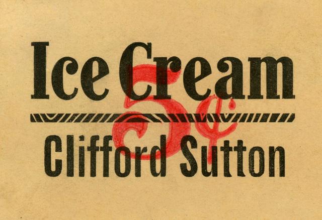 Ice Cream, Clifford Sutton, 5¢