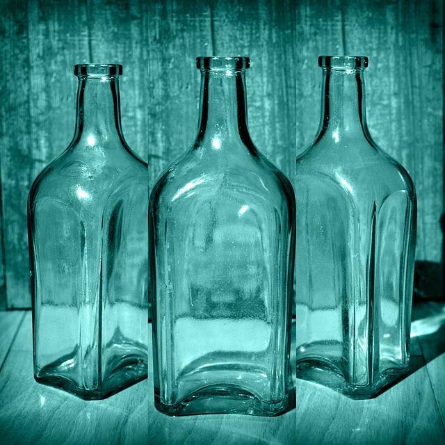 9/50 Old Bottle Triptych
