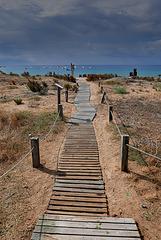 Le chemin de la plage.