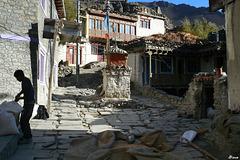 Une rue de village - Népal
