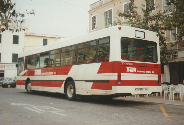 Transportes Menorca SA (TMSA) 27 (PM 4519 BV) - Oct 1996 337-11