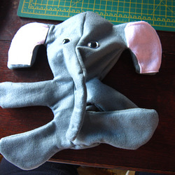 Slightly deflated elephant, but you can see he's almost finished
