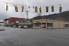 """Oldtime downhome """"MOUNTAIN INTERSECTION"""" of Appalachian Mountains."""