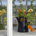Autumn Flowers in a Black Jug