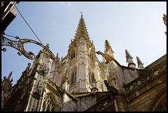 Rouen Cathedral 1; far, golden
