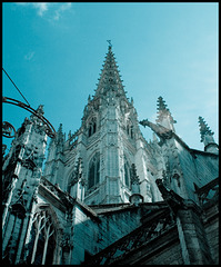 Rouen Cathedral 3; close, opaque