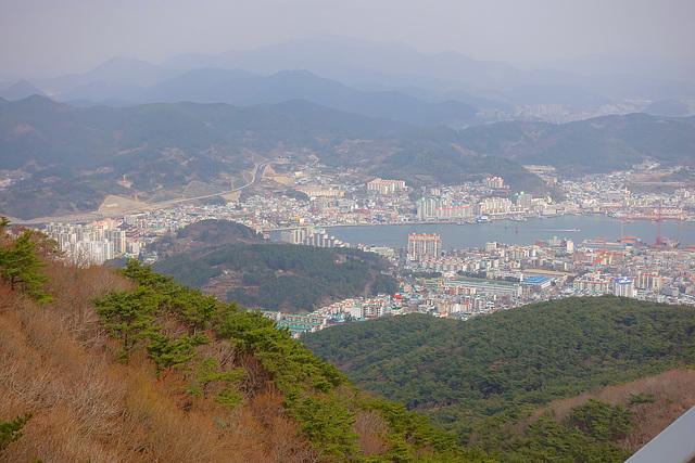Tongyeong as seen from the Ropeway - Mt. Mireuksan