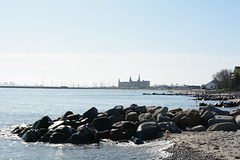 Denmark, Kronborg Castle from afar