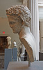 Head and Back of a Marble Satyr in the Metropolitan Museum of Art, May 2012