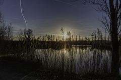 MURET (France), lever de soleil sur le Four de Louge