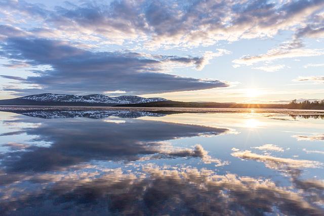 Sunset on Lake Pallasjärvi