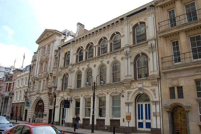 Former Atlas Assurance Building (Left) and mid c19th neighbour, Colemore Row, Birmingham