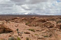 Bolivia, Chuhuilla Volcano (5435m) and Ancient Lava Fields