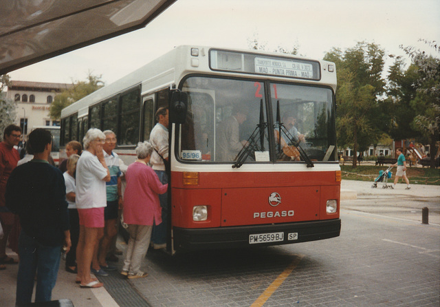 Transportes Menorca SA (TMSA) 21 (PM 5659 BJ) - Oct 1996 332-14