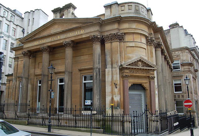 Former Birmingham Banking Company Building (by Rickman and Hutchinson 1830), Waterloo St Birmingham